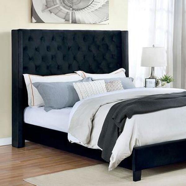 Imagen de RYLEIGH BLACK KING TUFTED BED